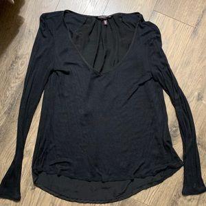 Victoria's Secret Black flowy Long Sleeve Shirt